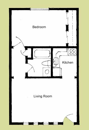 One room cabin floor plans joy studio design gallery for 1 bedroom cottage floor plans